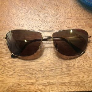 Ray Ban P- Chromance sunglasses in Gold